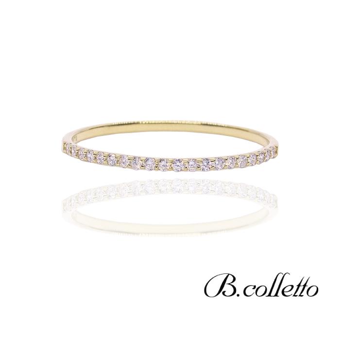 シンプル 大人可愛い 売り出し ギフト プレゼント クリスマスプレゼント Half ハーフエタニティリング 本物 B.colletto Eternity Ring