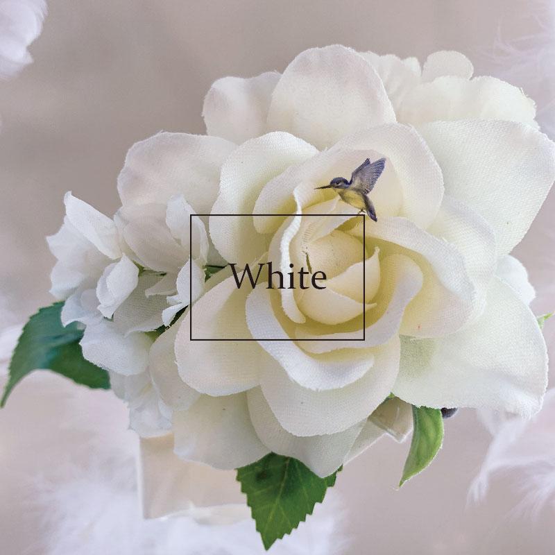 『4年保証』 造花 花 フラワー ウエディング 全商品オープニング価格 結婚式 パーティー 二次会 フラワーガール ホワイト 発表会 ウェディング リストレット フラワーブレスレット ピンク リストブーケ