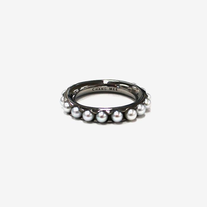 【送料無料】【Chang Mee チャンミー】SHANTI ファラッジリング M ブラック 指輪 重ね着け パール 真珠 アクセサリー ギフト プレゼント パーティー用アクセサリー