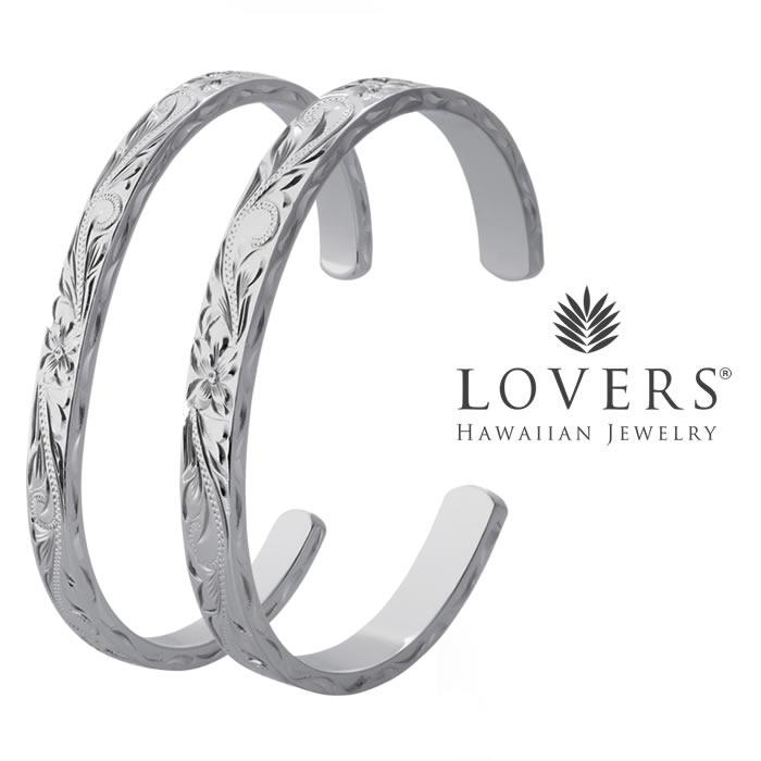ハワイアンジュエリー ペア バングル シルバー フリーサイズ アクセサリー【LOVERS ラバーズ】 LOVERS BANGLE 6mm 8mm ギフト ハワイ