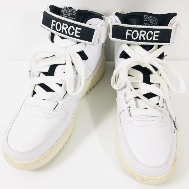 more photos afe97 88bae NIKE Nike NIKE W AF1 HI UT sneakers white X black 24.5