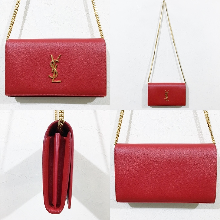 8a46bc5e Saint Laurent Psris Saint-Laurent Paris YSL shoulder bag red chain gold  leather