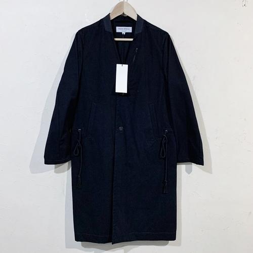 masao shimizu マサオシミズ ノーカラーコート 定価56,160円 1 ブラック 【メンズ】【中古】