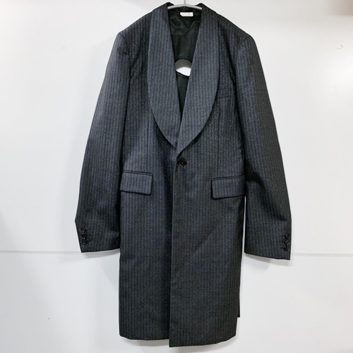 "COMME des GARCONS HOMME PLUS コムデギャルソンオムプリュス 14AW ""holy jacket""穴デザインコート S グレー系"
