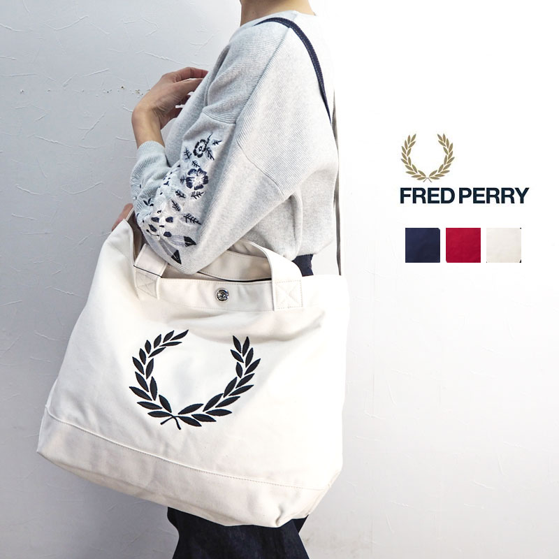 2e877ad40 FRED PERRY Fred Perry LAUREL WREATH CANVAS TOTE BAG Laurel Lee scan bus  tote bag F9528 ...