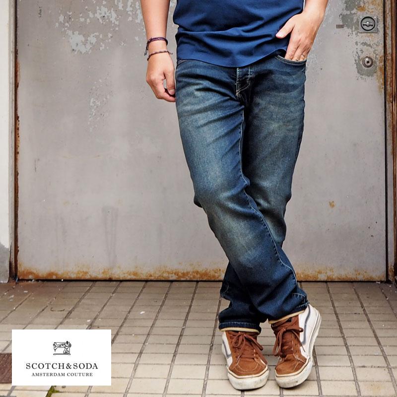 SCOTCH&SODA スコッチアンドソーダ デニムパンツ RALSTON 282-75540 メンズ ジーンズ デニム パンツ ストレッチ おしゃれ 色落ち ブランド ストレッチデニム denim jeans スコッチ&ソーダ スコッチ