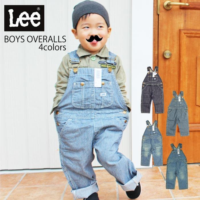 Lee リー BOYS OVERALLS 61537 オーバーオール キッズ 子供 男の子 lee キッズオーバーオール デニム ジーンズ パンツ ジュニア サロペット ヒッコリー シンプル カジュアル オシャレ