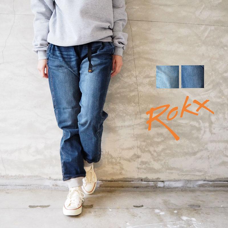 ROKX ロックス パンツ デニム ウッドパンツ RXMS191023 メンズ レディース クライミングパンツ デニムパンツ MG DENIM WOOD PANT ストレッチ イージーパンツ イージー アメカジ アウトドア ウォッシュ インポート おしゃれ ウォッシュ キャンプ キャンパー