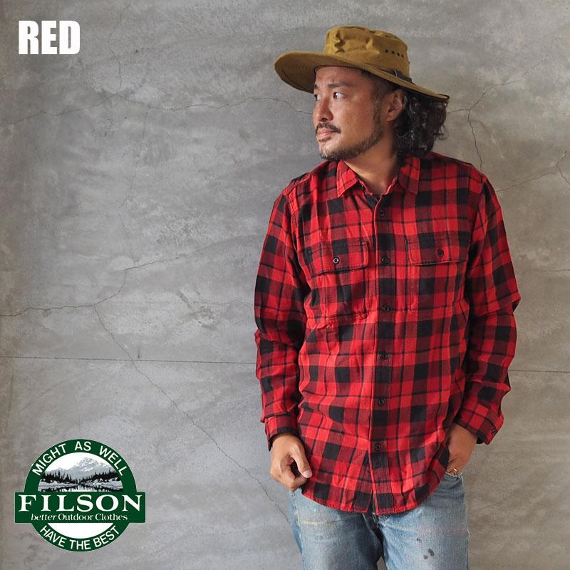 FILSON フィルソン ネルシャツ チェックシャツ SCOUT SHIRT 49628 メンズ 長袖 チェック シャツ 長袖シャツ フランネル ワークシャツ アメカジ ワーク ヴィンテージ インポート