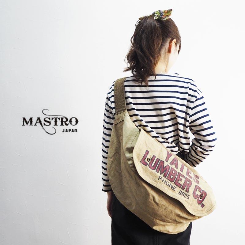 MASTRO マストロ キャンバス ニュースペーパーバッグ MB14003ショルダーバッグ ショルダー バッグ 鞄 メンズ レディース 帆布バッグ 斜めがけ 大容量 おしゃれ アメカジ カジュアル 綿100 コットン 日本製