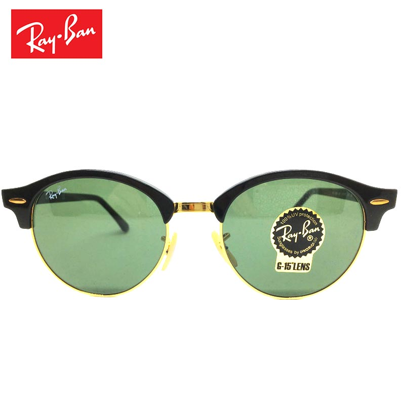 Ray-Ban レイバン サングラス RB4246メンズ レディース ボストンサングラス CLUBROUND クラブラウンド UVカット ラウンド 黒 ブラック かっこいい おしゃれ イタリア製 丸メガネ メガネ 眼鏡 アイウェア