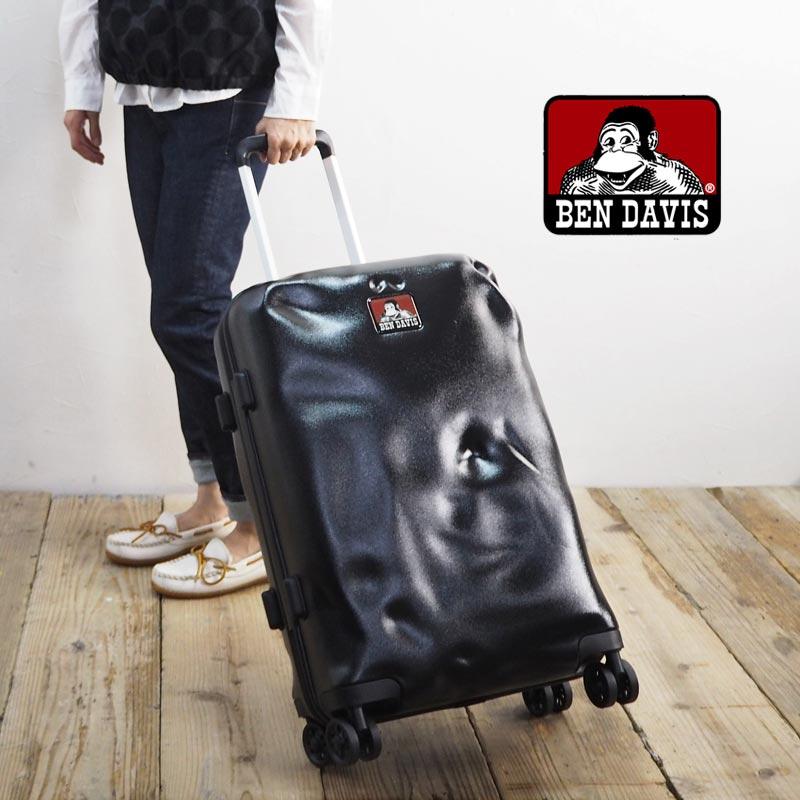 BEN DAVIS ベンデイビス CARRY CASE L BD102-BENDAVISキャリーケース スーツケース キャリーバッグ キャリー メンズ レディース 鞄 バッグ かばん トラベルバッグ 旅行かばん Lサイズ おしゃれ 40L 4輪 TSAロック ハード 黒 ブラック ビジネス 出張 旅行