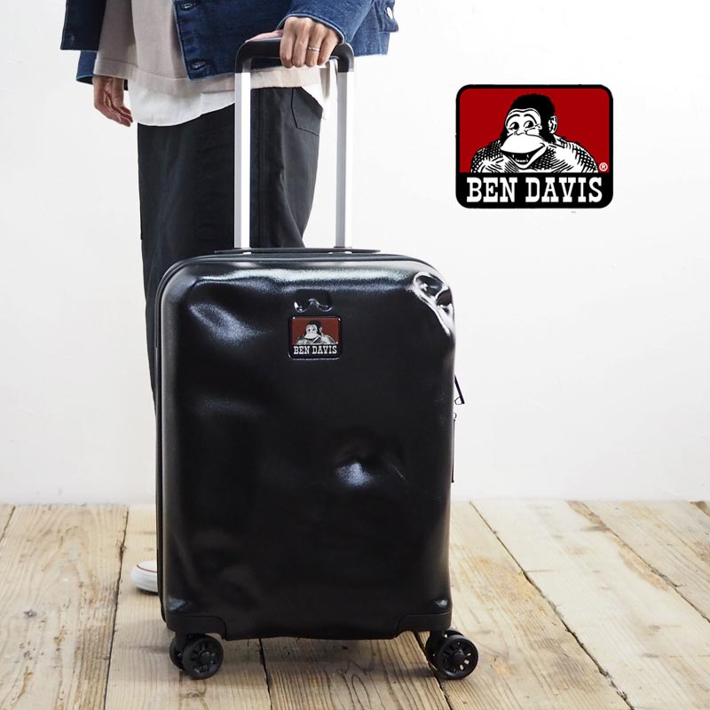 BEN DAVIS ベンデイビス CARRY CASE S BD101-BENDAVISキャリーケース スーツケース キャリーバッグ キャリー メンズ レディース 鞄 バッグ かばん 機内持ち込み Sサイズ おしゃれ 30L 黒 ブラック トラベルバッグ 旅行かばん 4輪 TSAロック ビジネス 出張 旅行