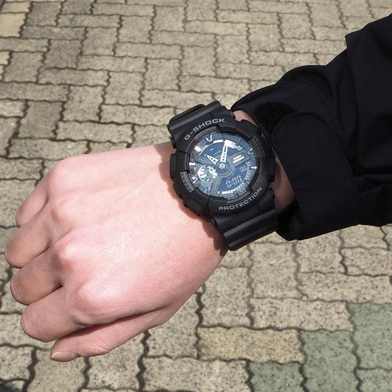 CASIO カシオ G-SHOCK ジーショック GA-110シリーズ ベーシックモデル BASIC 腕時計 GA-110-1BJF メンズ レディース アナデジ 防水 耐衝撃 ワールドタイム ストップウォッチ 速度計測 耐磁 黒 ブラック ビッグフェイス カジュアル