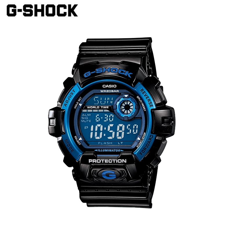 CASIO カシオ G-SHOCK ジーショック 腕時計 G-8900A-1JF 時計 メンズ レディース デジタル 黒 ブラック 防水 アラーム タイマー ストップウオッチ ビジネス カジュアル アウトドア ギフト プレゼント 贈り物 ブランド おしゃれ