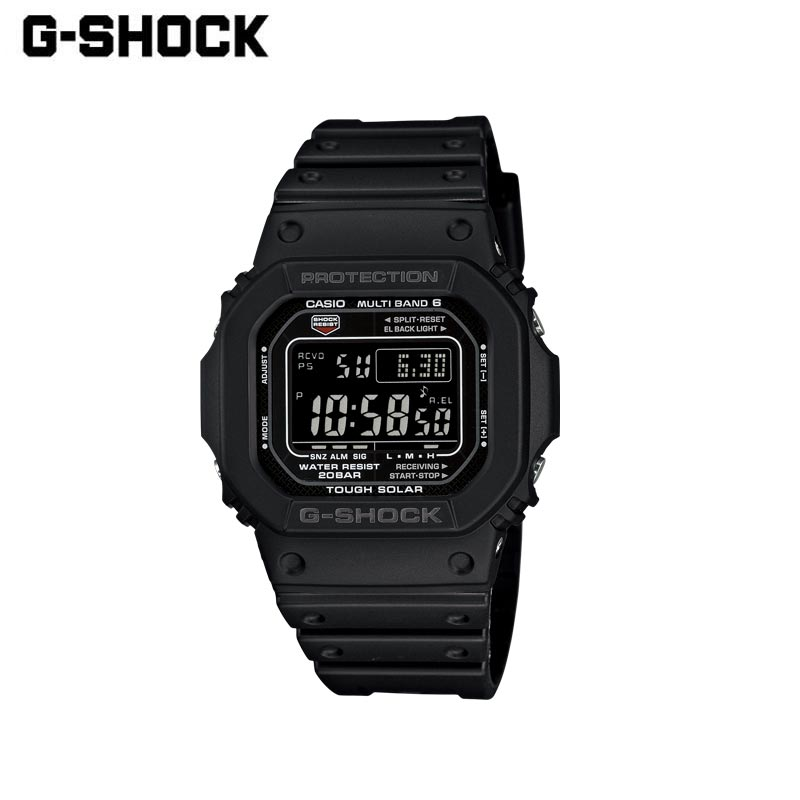 CASIO カシオ G-SHOCK ジーショック 腕時計 GW-M5610-1BJF 時計 ウォッチ メンズ レディース 電波 ソーラー デジタル 黒 ブラック 防水 耐衝撃 ストップウォッチ タイマー アラーム シンプル ビジネス カジュアル ギフト プレゼント 贈り物 父の日