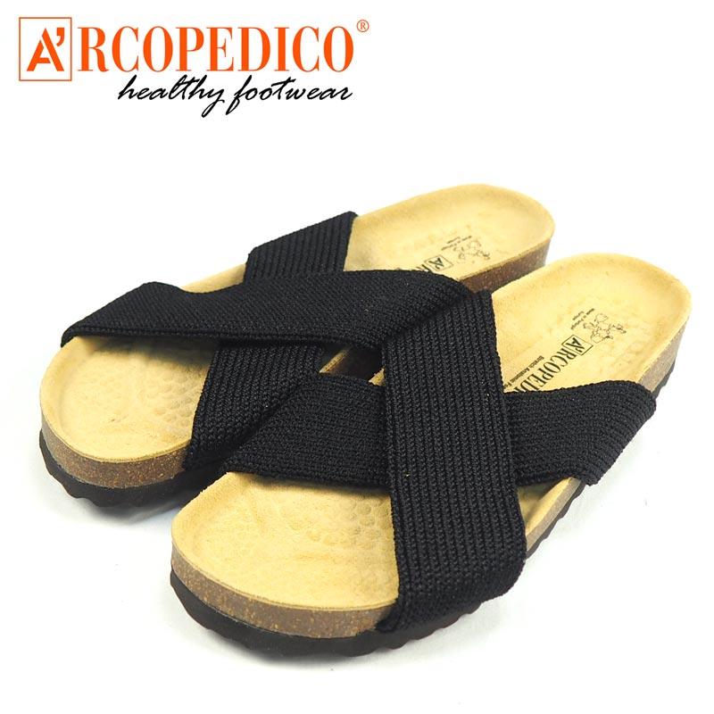 ARCOPEDICO アルコペディコ PEKE ペケ サンダル 5061160 レディース コルクサンダル 靴 シューズ ぺたんこ 歩きやすい 疲れにくい コルク インポート 黒 ブラック イエロー マスタード シンプル カジュアル リゾートodrCeWBx