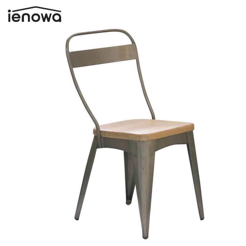 ienowa イエノワ チェア アイアンチェア ジスト 2脚セット 201200535 家具 インテリア おしゃれ かっこいい お気に入り 椅子 代引き不可 イス 同梱不可 後払い不可 いす アンティーク調 木目 インダストリアル アイアン 商店 木 天然木