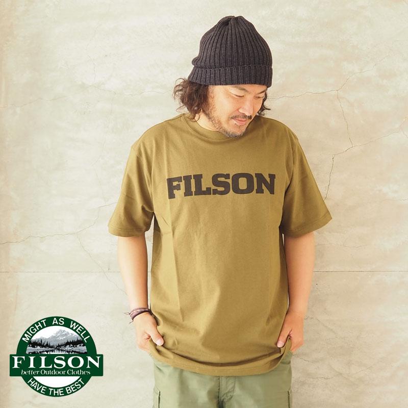 乾いたアメリカの風合いたっぷりのロゴプリントTシャツ SS21MT 値下げ FILSON フィルソン Tシャツ S OUTFITTER GRAPHIC T-SHIRT FLSN2119-FLSN7279 メンズ レディース ロゴ ミリタリー インポート プリント 半袖Tシャツ ロゴプリント ワーク アメカジ 2020秋冬新作 半袖 グラフィック カットソー