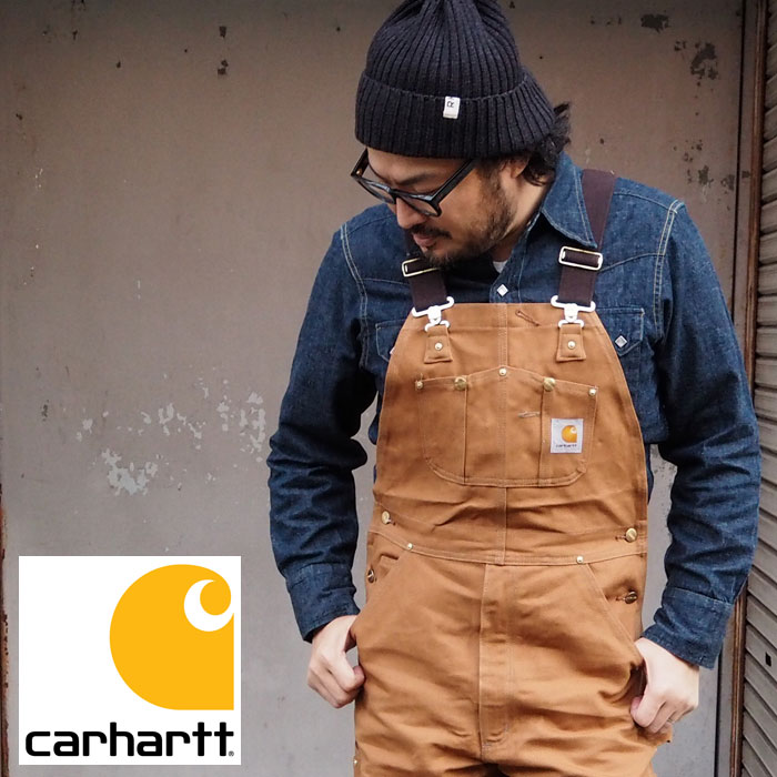 carhartt カーハート DUCK BIB OVERALL CRHTT-R01 オーバーオール つなぎ メンズ 大きいサイズ 大きめ ワーク エンジニア カジュアル アメカジ オールインワン ツナギ ダック 生地 大きい ヴィンテージ USA 米国製 パンツ ロングパンツ ブラウン 茶