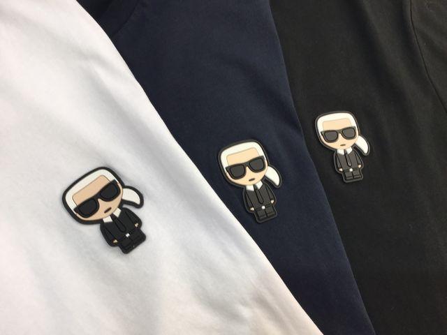 【送料無料!】新着!メンズ 2020SS『KARLLAGERFERD(カールラガーフェルド)』Tシャツ【ホワイト/ブラック/ネイビー】半袖クルーネック★755055 501220