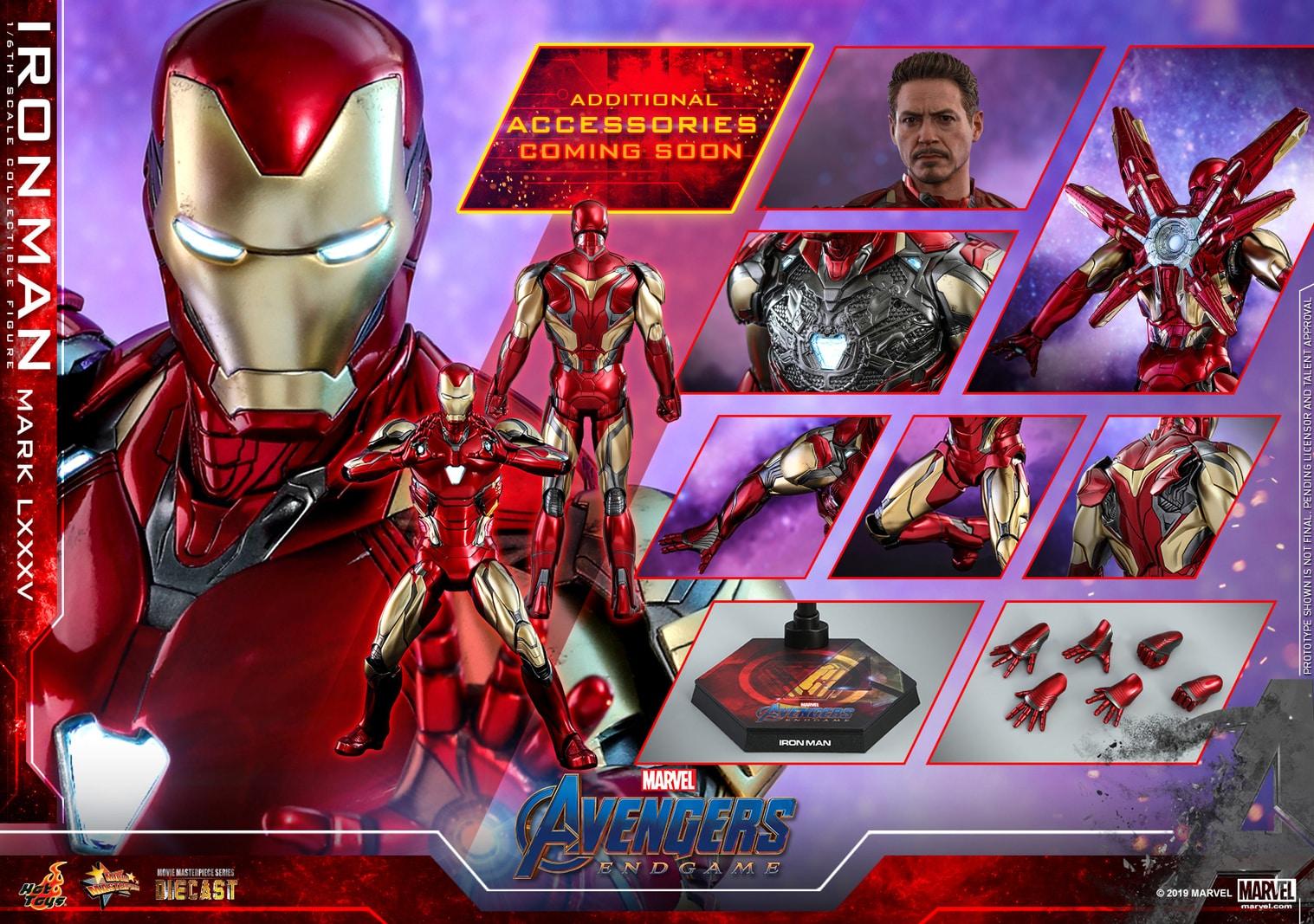 「予約品」Hottoys ホットトイズMMS528D30 『アベンジャーズ/エンドゲーム』アイアンマン・マーク85 1/6スケールフィギュア Avengers: Endgame - Iron Man Mark 85