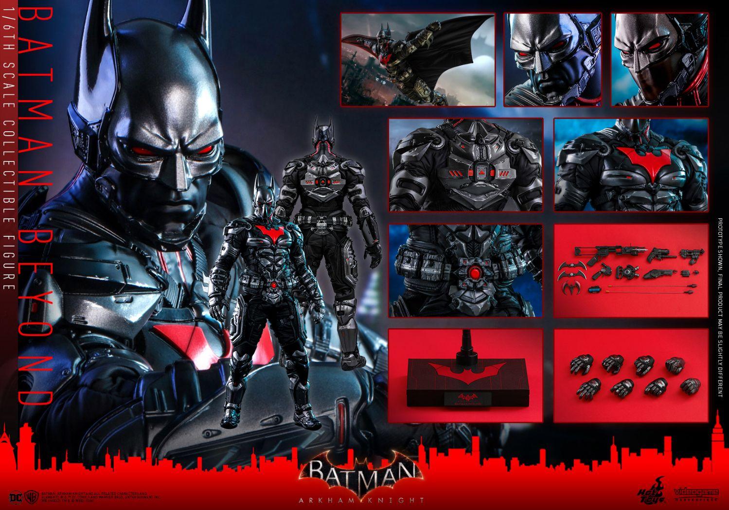 Hottoys ホットトイズ VGM 39 バットマン:アーカム 正規認証品!新規格 ナイト バットマン ザ フューチャー 版 - 完売 一般流通分 Batman Knight スケールフィギュア 1 6 Beyond Arkham