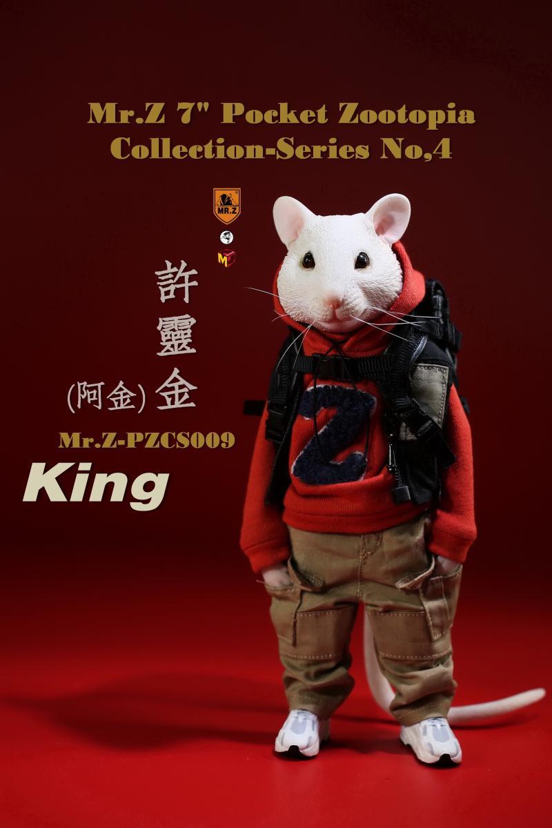 ミスターZ ズートピア PZCS009 白いネズミ 送料無料限定セール中 King キング Mr.Z Pocket Zootopia 賜物 スケール どうぶつ森フィギュア 1 6 Collection 動物