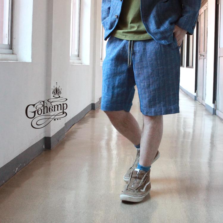ゴーヘンプ GO HEMP gohemp ボトムス パンツ ショートパンツ GOOD DAY SHORTS / H/C DOBBY DENIM