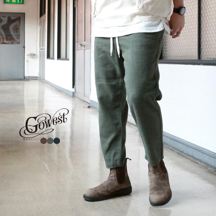 GOWEST GO WEST ゴーウエスト 『1年保証』 ボトムス パンツ E.G PRIPELA PANTS C 売店 L - wash triple