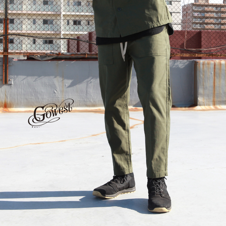 GOWEST go west ゴーウエスト ボトムス パンツ BAKERS BANQUET PANTS / CORDURA Back Satin