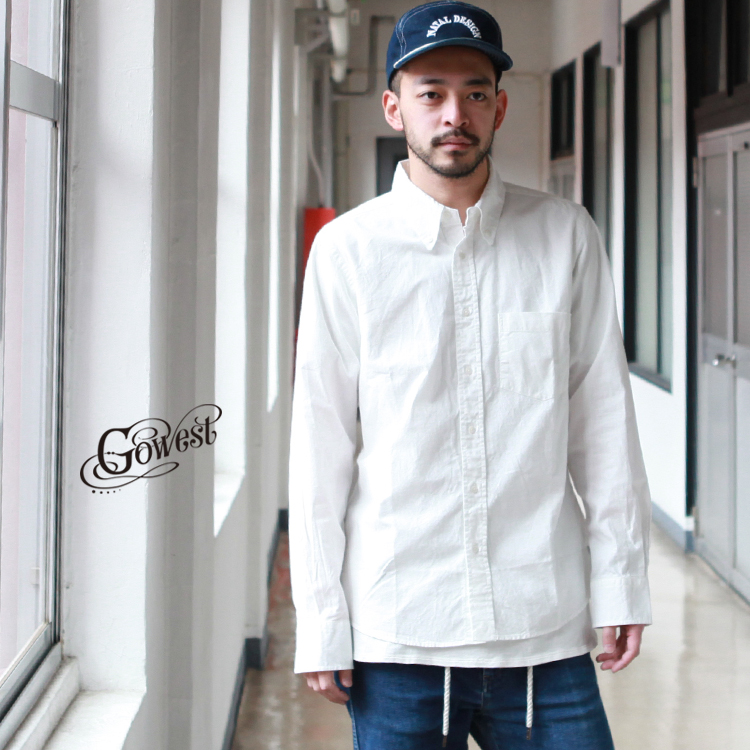 GOWEST ゴーウエスト go west トップス シャツ BASIC BD SHIRTS / CHAMBRAY 2020SS