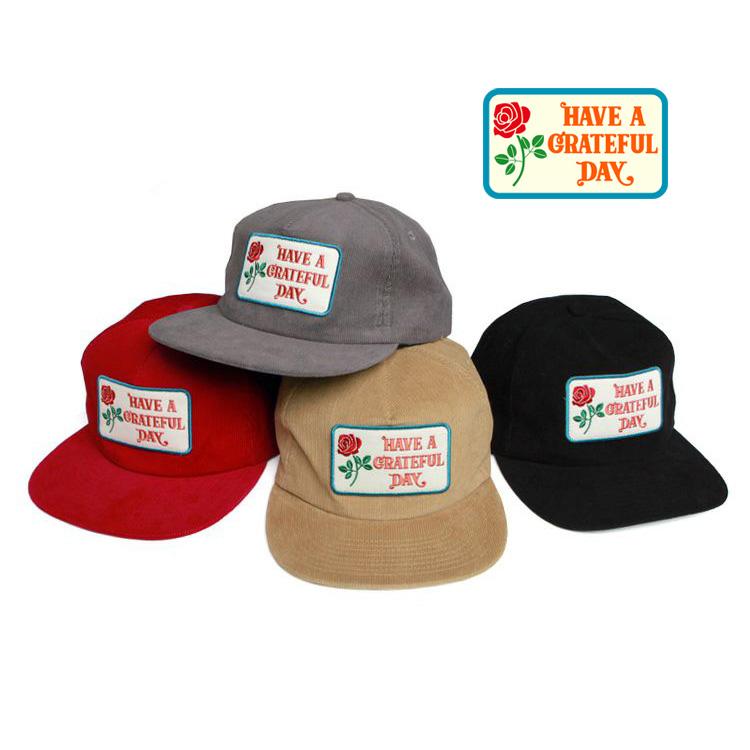 帽子 キャップ 商店 ハブアグレイトフルデイ HAVE 未使用品 A GRATEFUL DAY - CORDUROY LOGO BOX CAP
