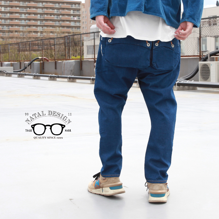 デニム 人気激安 ボトムス パンツ 絶品 サルエル ネイタルデザイン NATAL DESIGN Denim G55 Flap Sarouel Pants -AUTHENTIC-