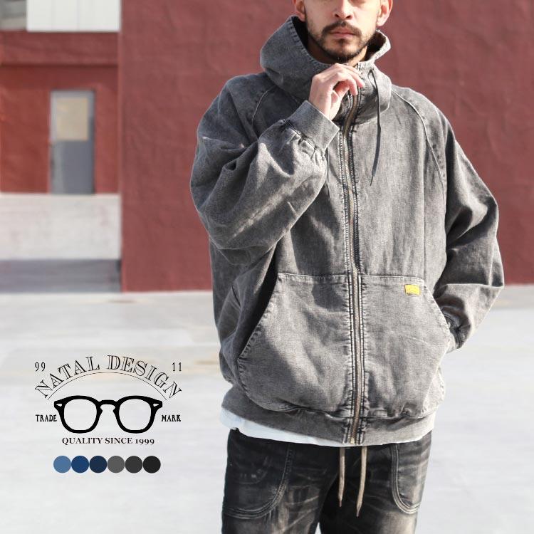 NATAL DESIGN(ネイタルデザイン)【2018AW新作】DENIM SWEAT PARKA B.I.G / トップス / パーカ