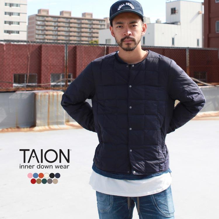 Brownfloor Taion Thai On Crew Neck Button Down Jacket Down