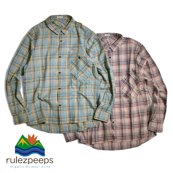 ルールズピープス rulezpeeps COTTON CHECK GOODAY SHIRTS L/SL チェックシャツ