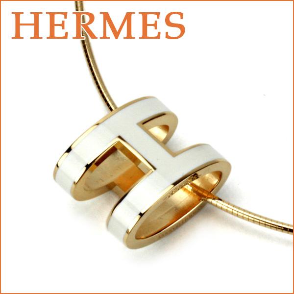 quality design 6d30c fbc3c エルメス ネックレス HERMES H147001 アクセサリー ポップアッシュ POP H レディース BLANC(ブラン) ホワイト 白 ロゴ  モチーフ シンプル エレガント【 送料無料】|ブランドストリートリング