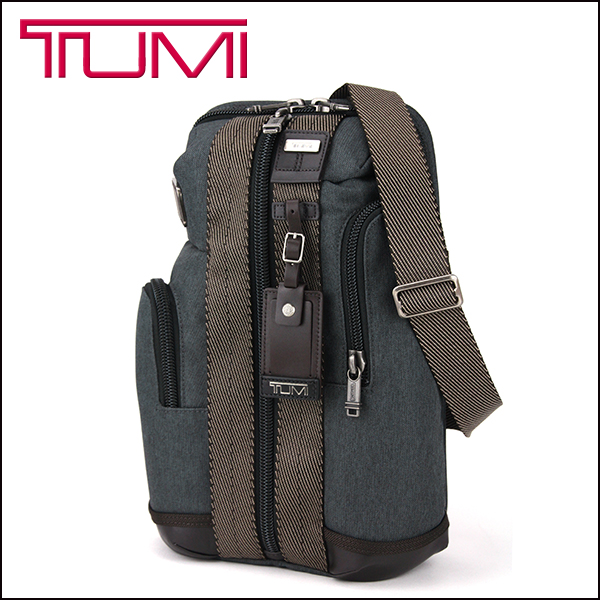 Tumi Bag 222318 Alphabravor Alpha Bravo Monterey Sling Mens Anthrcite Anthracite Dark Grey Diagonal Cross Body A4 Size Can Accommodate Business