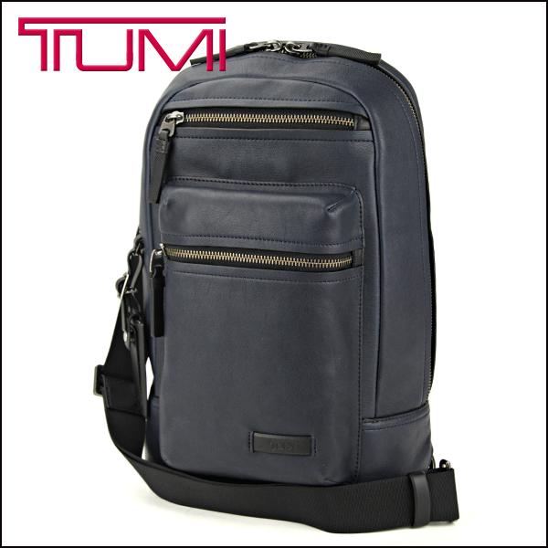 투미 숄더백 TUMI 68918 NVY 가방 미션 MISSION 「 드 리스 」 슬링 남성용 NAVY (네이 비) 네이 비 해군 태블릿 수납 가능 가죽 캐주얼 타운 유스
