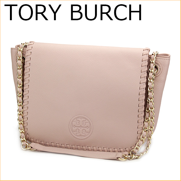 Tory Burch 12159959 Shoulder Bags Bag Marion Small Flap Women S Light Oak Beige Pink Embossed Logo Chain Leather