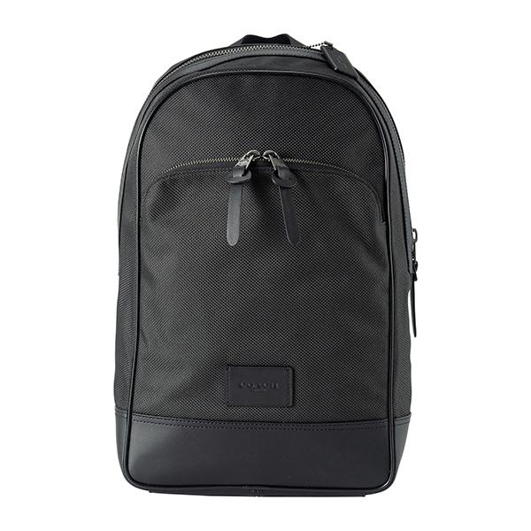 コーチ アウトレット リュックサック COACH OUTLET F37610 QBBK バッグ ナイロン NYLON スリム バックパック メンズ BLACK ブラック 黒/ガンメタル A4収納可 シンプル【 ファクトリー 正規 アウトレット 送料無料】
