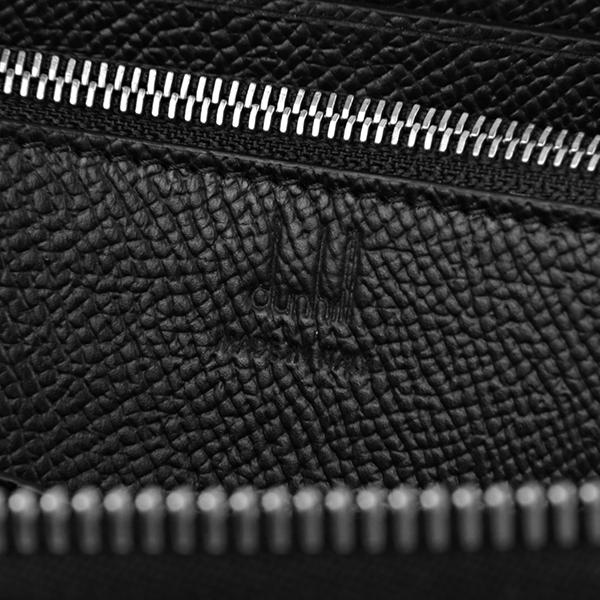 【最大3000円OFFクーポン配布中】ダンヒル 長財布(ラウンドファスナー) dunhill 18F2180CA001 財布 カドガン CADOGAN ジップコートウォレット メンズ BLACK ブラック 黒 箔押しロゴ シンプル【 】