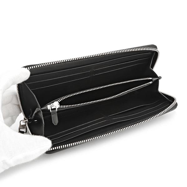 d344f1bfc7fc 細かなダイヤパターンが並ぶアイコニックなエンジンターンプリントが目を惹くジップアラウンド式長財布。厚みのあるキャンバス素材にレザーを組み合わせたカジュアルに  ...