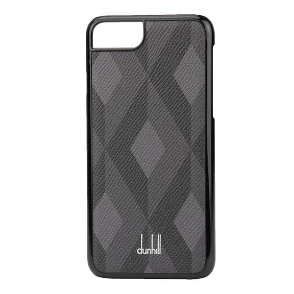 【最大3000円OFFクーポン配布中】 ダンヒル iPhone7/iPhone8 スマートフォンケース dunhill L2CPA9Z ブランド小物 カドガン CADOGAN ENGINE TURN IPHONE カバー メンズ BLACK ブラック 黒/グレー エンジンターン スマホケース アイフォン7/8 シック スマホケース アイフォー