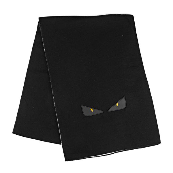 フェンディ マフラー・ストール FENDI FXS124 A11Q F0H23 ブランド小物 ニット バグズ KNIT BUGS スカーフ ユニセックス WHITE ICE ブラック 黒/ホワイト 白 モンスター オッキ メンズ 個性的【 送料無料】