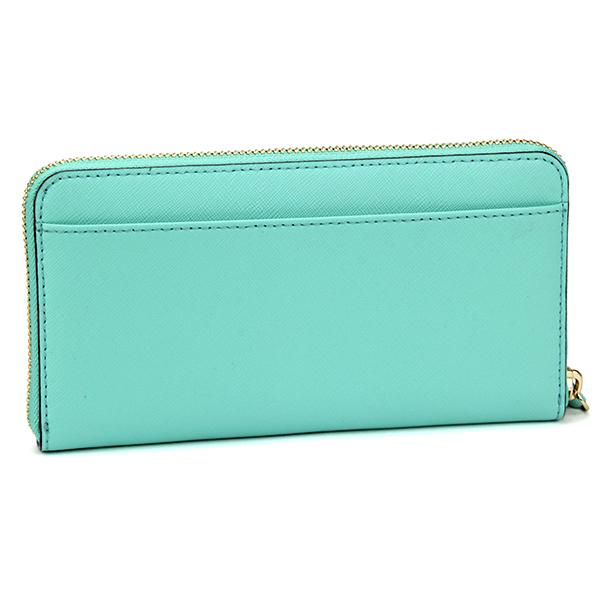 a3d4410d1bb33 Kate spade wallet (zip) kate spade PWRU3898 141 wallet sidestreet CEDAR  STREET LACEY ladies FRESH AIR (largely) Mint green simple