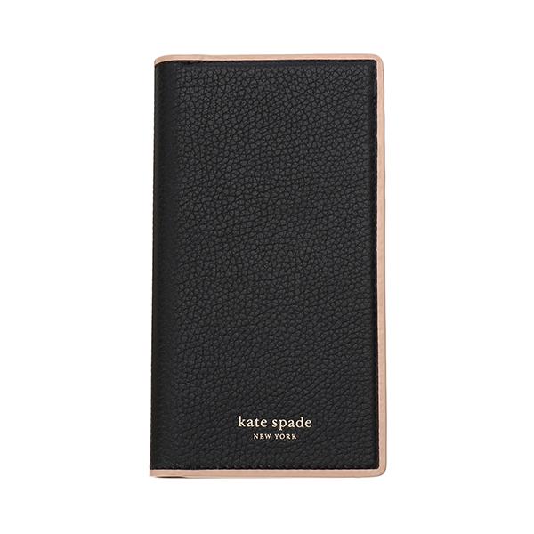 【最大3000円OFFクーポン配布中6/17(月)14:00まで】ケイトスペード iPhone X/iPhone XS スマートフォンケース kate spade 8ARU6157 001 ブランド小物 アイフォンケース IPHONE CASES SAM WRAP FOLIO レディース BLACK(ブラック) ブラック 黒 手帳型 アイフォンX/XS シック