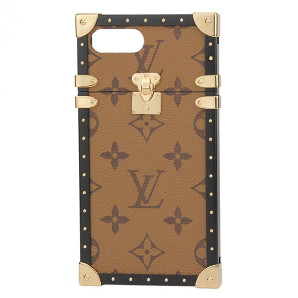 ルイヴィトン iPhone7 Plus/iPhone8 Plus スマートフォンケース Louis Vuitton M64487 ブランド小物 モノグラム リバース MONOGRAM REVERSE アイ・トランク アイフォーン 7プラス ユニセックス LIGHT BROWN ライトブラウン【 送料無料】