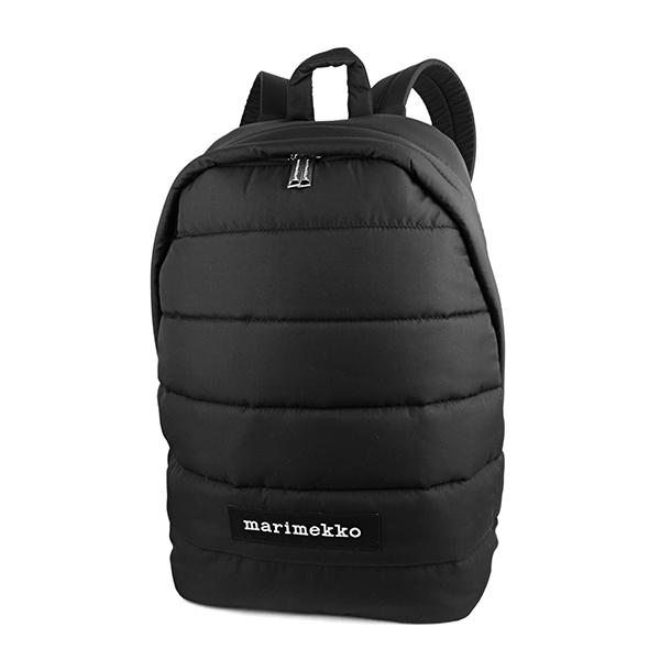 マリメッコ リュックサック MARIMEKKO 045486 009 バッグ パデッドバッグ PADDED BAGS LOLLY ロリー レディース BLACK ブラック 黒 キルティング A4収納可 シンプル【 送料無料】